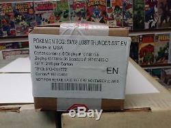 Pokemon Sun & Moon Lost Thunder 6 Booster Boxes Factory Sealed Case New