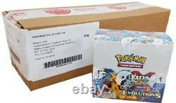 Pokemon TCG Evolutions Booster Box Case 6 Booster Boxes Factory Sealed XY12 Mint