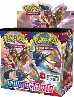 Pokemon TCG Sword and Shield Base Booster Box Case 6 Boxes Factory Sealed