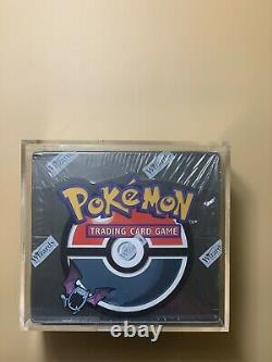 Pokemon Team Rocket Booster Box Factory Sealed With Acrylic Case