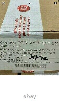 Pokemon XY Evolutions Case With 6 Booster Boxes of 36 Packs Factory Sealed CASE