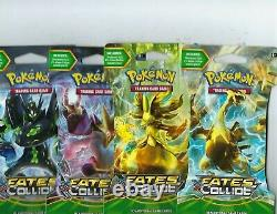 Pokemon XY Fates Collide Sleeved Booster 144 Pack Case Factory Sealed