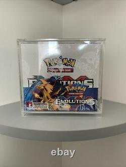 Pokemon Xy Evolutions Booster Box Factory Sealed. In Display Case