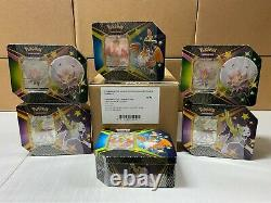 Shining Fates V Tins Case Of 6 Factory Sealed (36 Booster Packs Total)