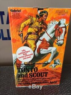 Vintage 1970's Gabriel Tonto & Scout Factory Sealed New Custom Acrylic Case