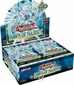 Yugioh Dawn of Majesty Booster Case (12 Boxes) Factory Sealed SHIPS 8/12
